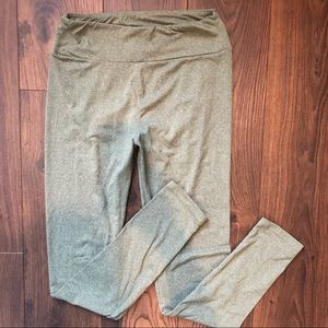 LuLaRoe Heather green leggings. Size OS